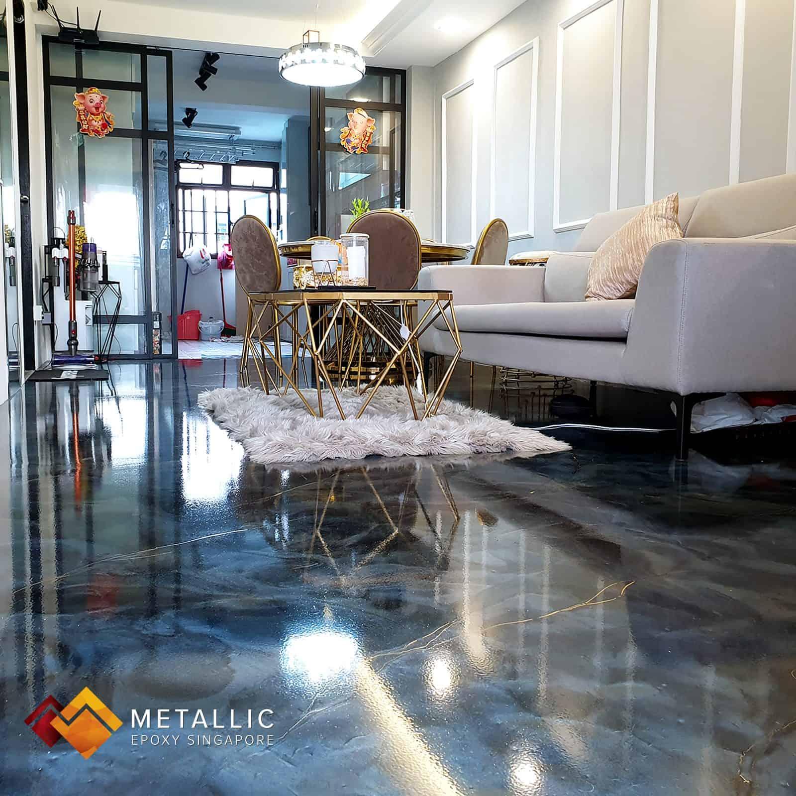 galaxy metallic epoxy singapore floor