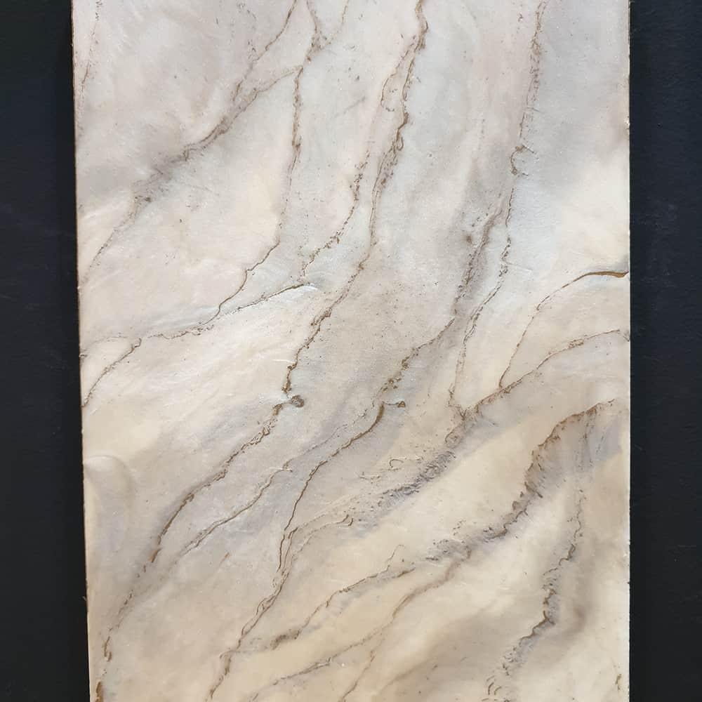 metallic epoxy marble design sample
