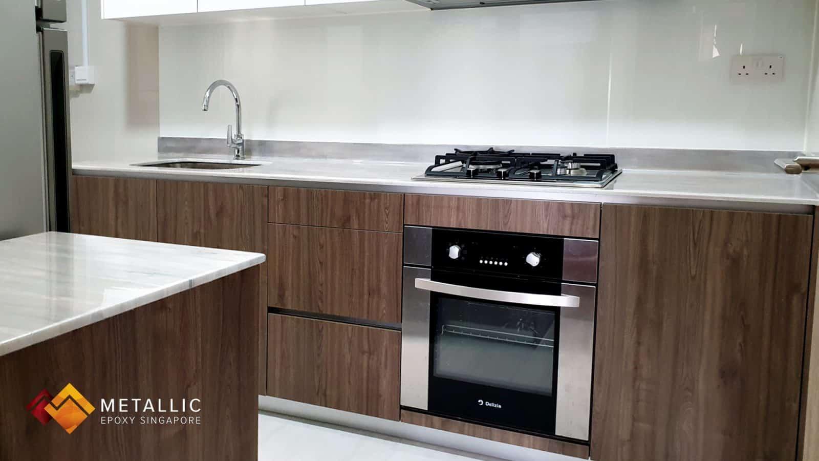 Wood theme countertop design
