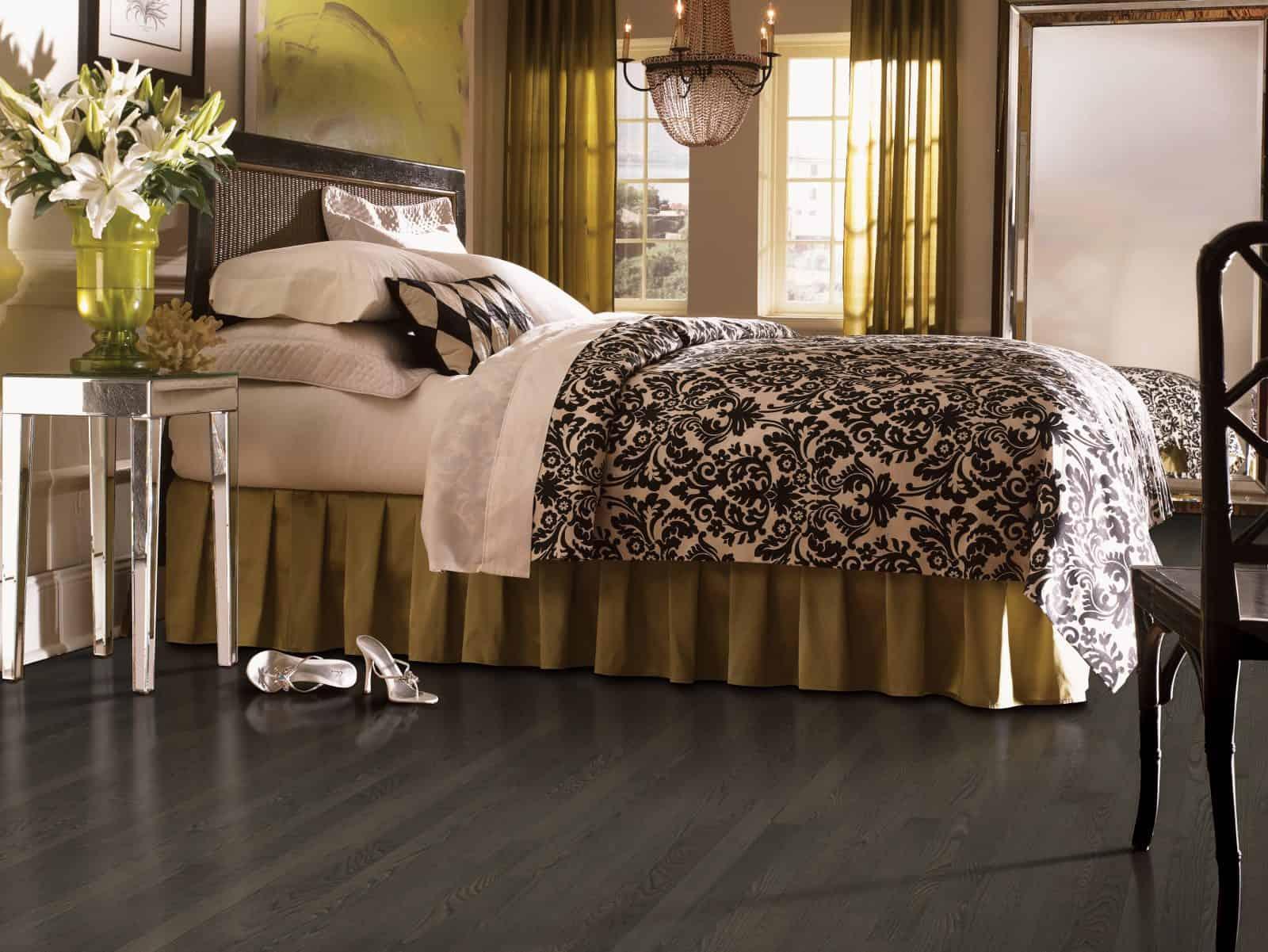 Walnut hardwood flooring interior design