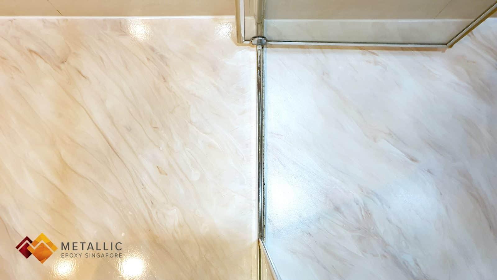 Light Khaki with Brown highlights Bathroom Floor