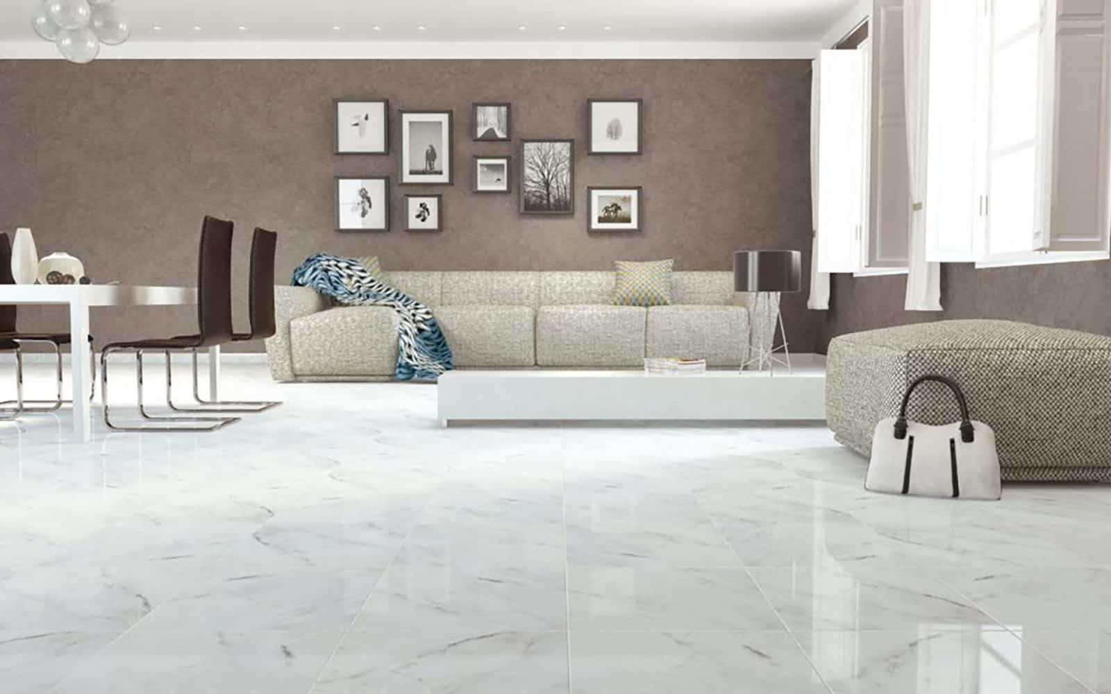 carrara marble living room