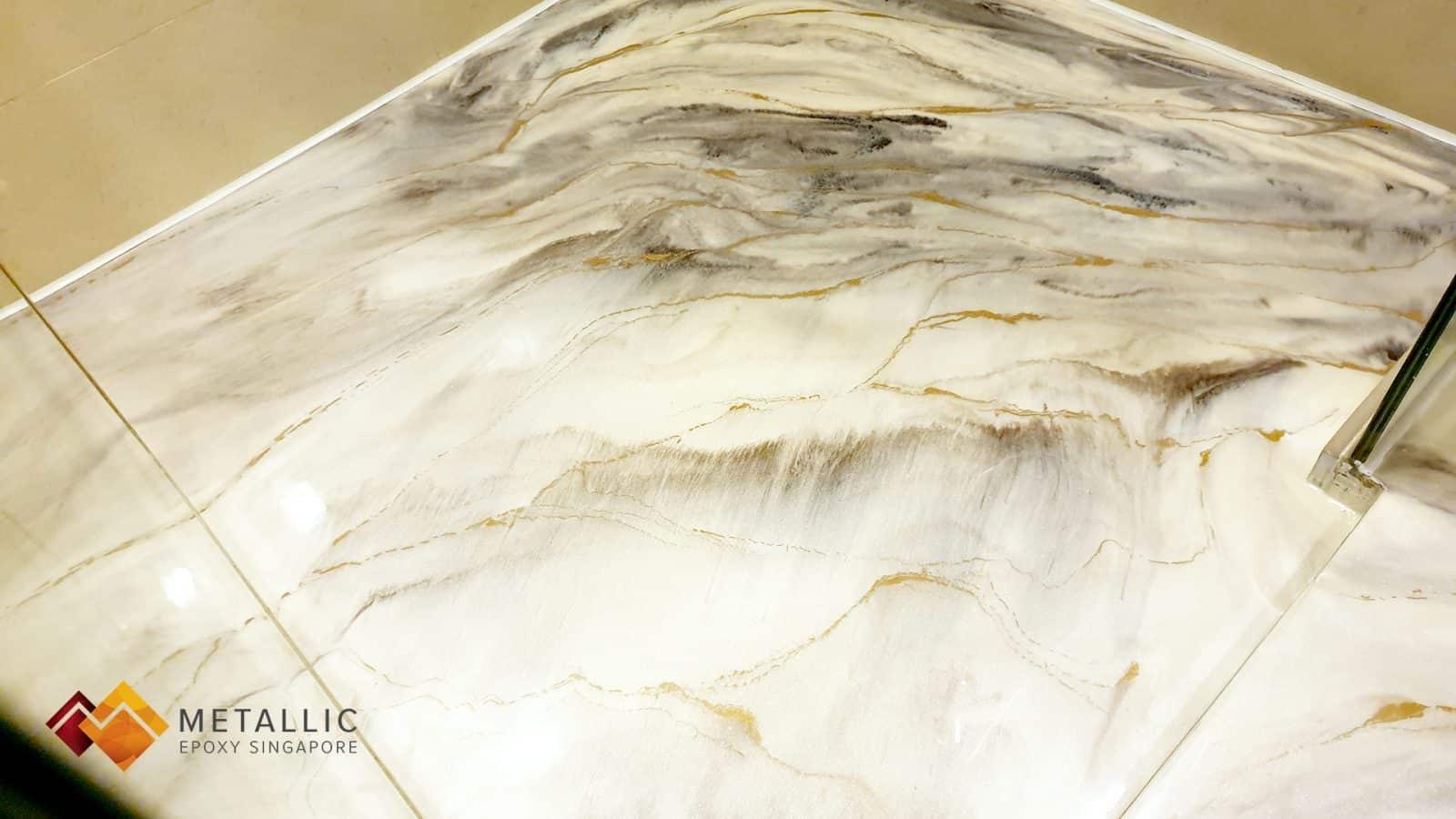Gold Beige Marble Toilet Flooring