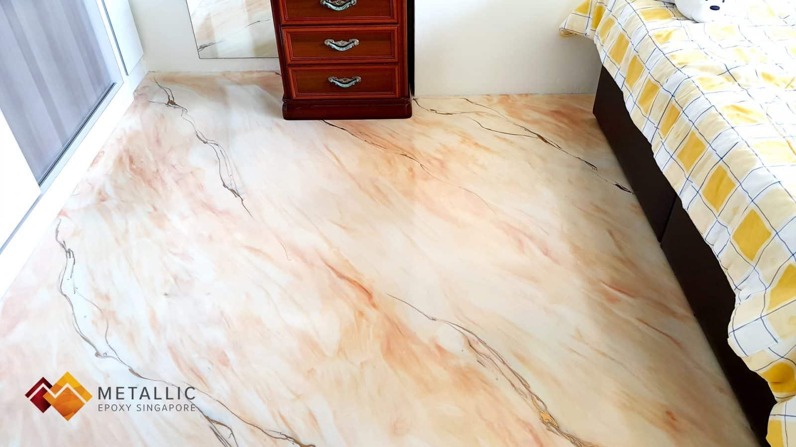 orange gold snow white bedroom floor