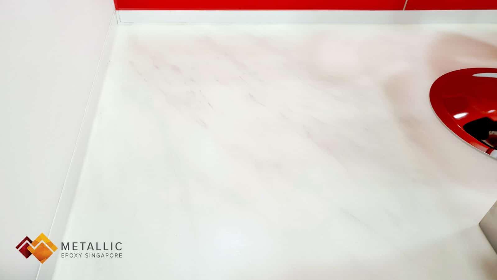 pure white marble theme floor