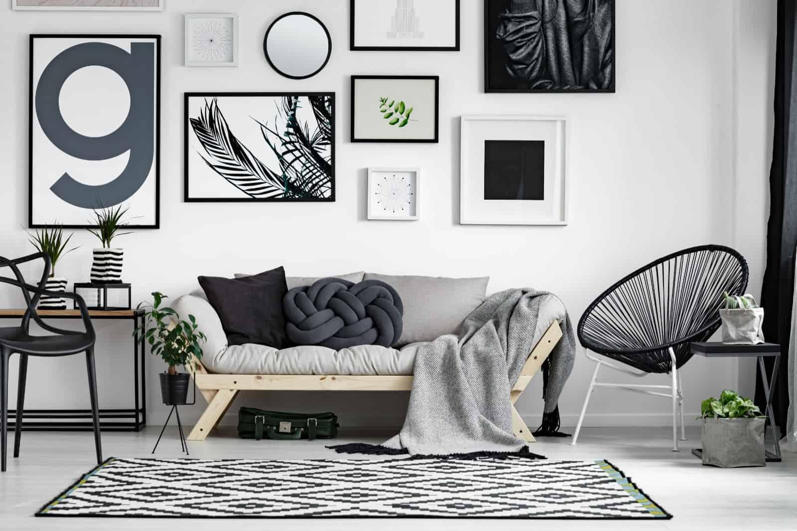 grey theme living room