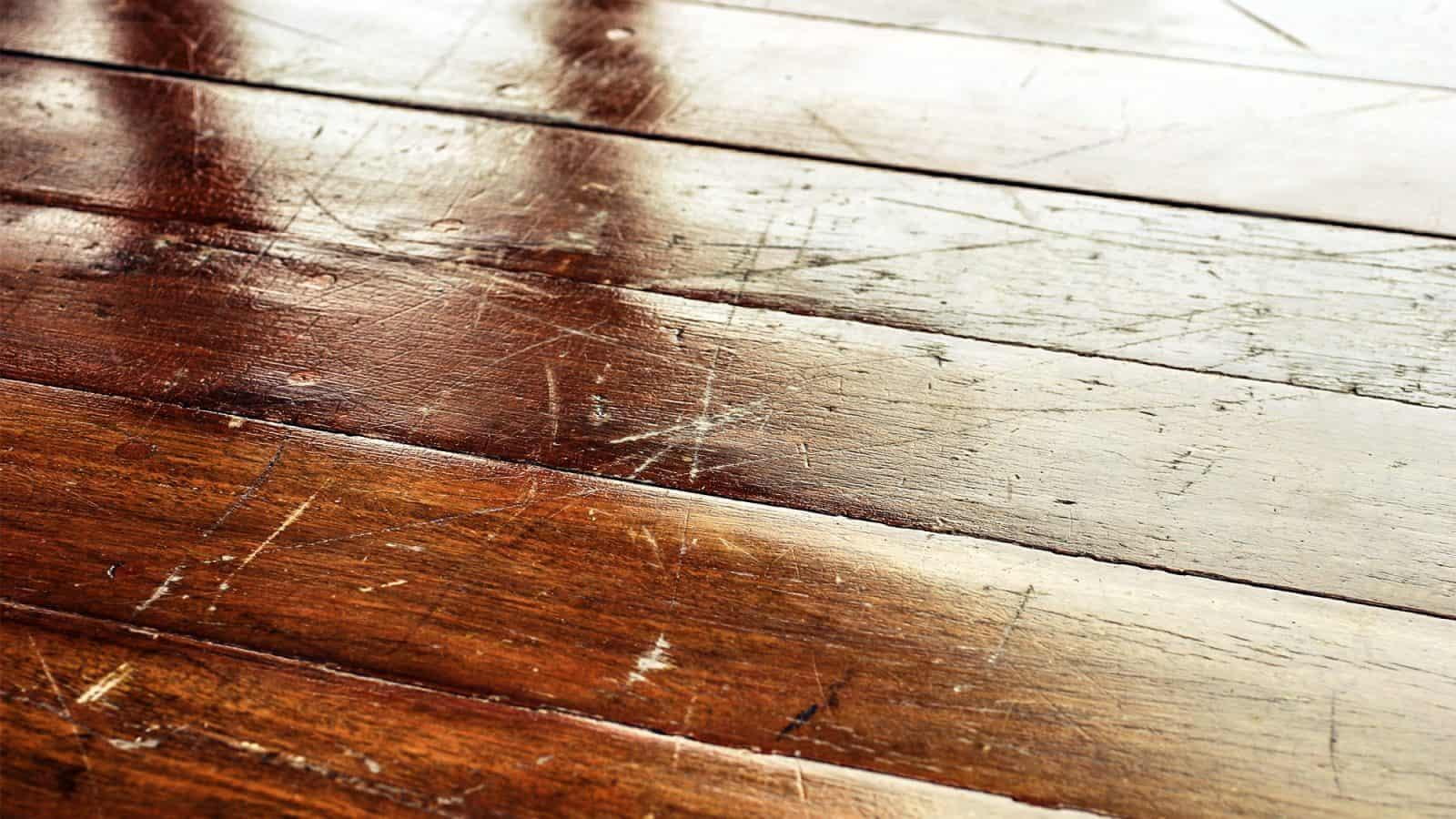 scratches on hardwood floor