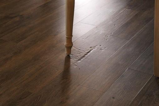 indentation on vinyl floor