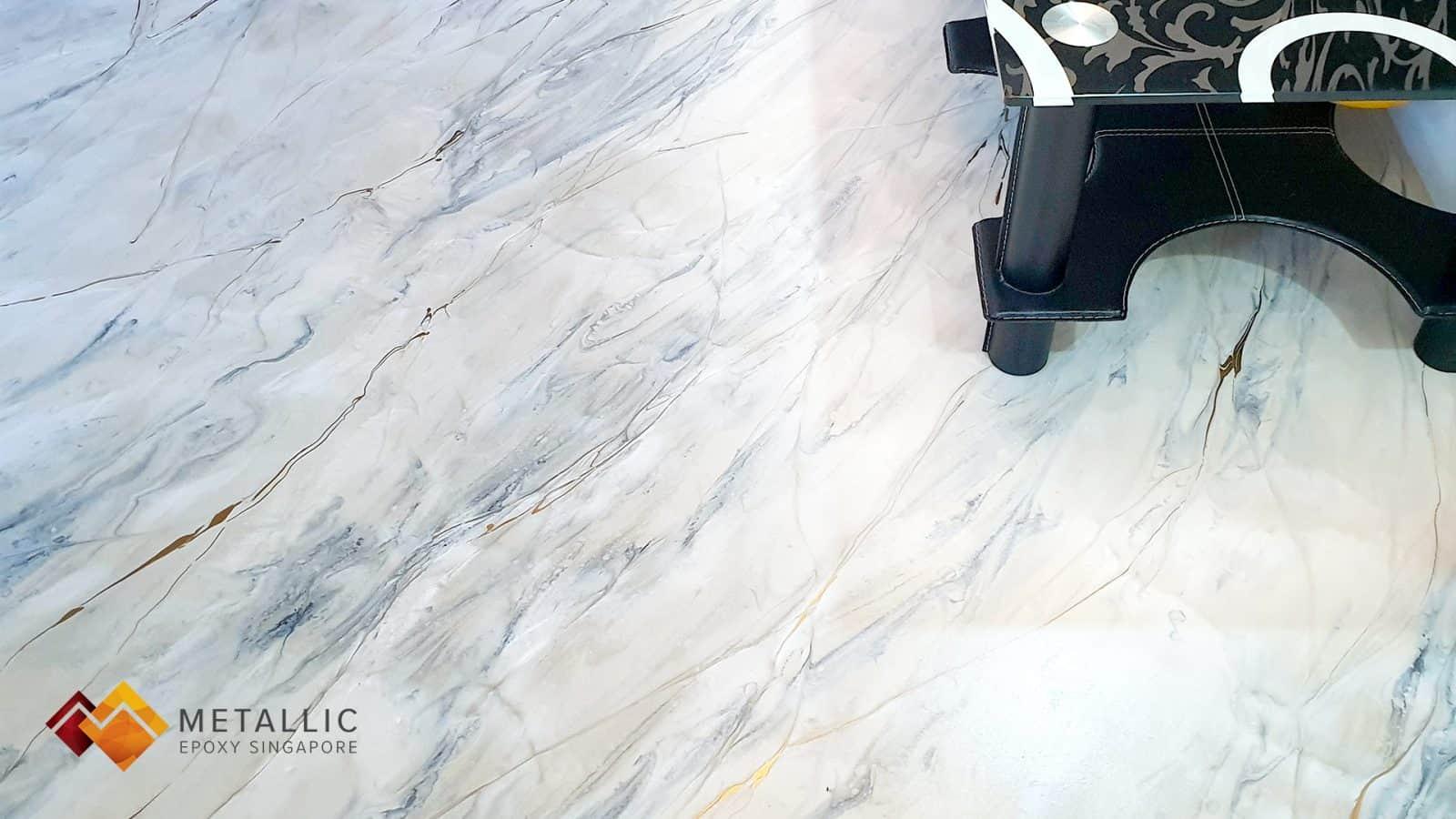 Light Khaki Marble Living Room Floor