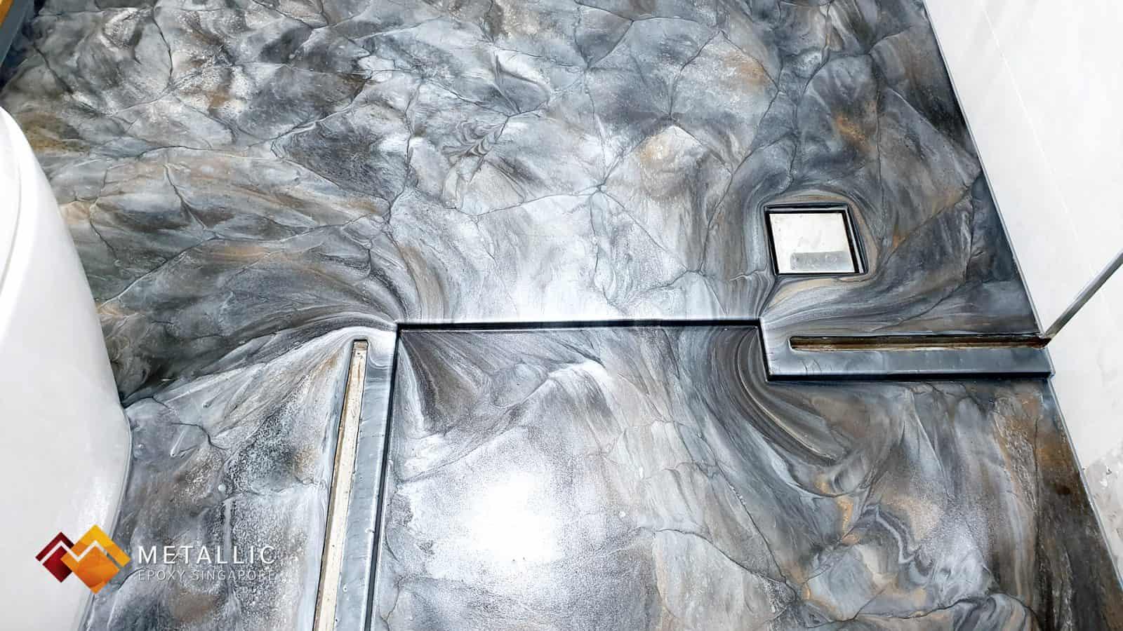 Silver Stone Bathroom Floor
