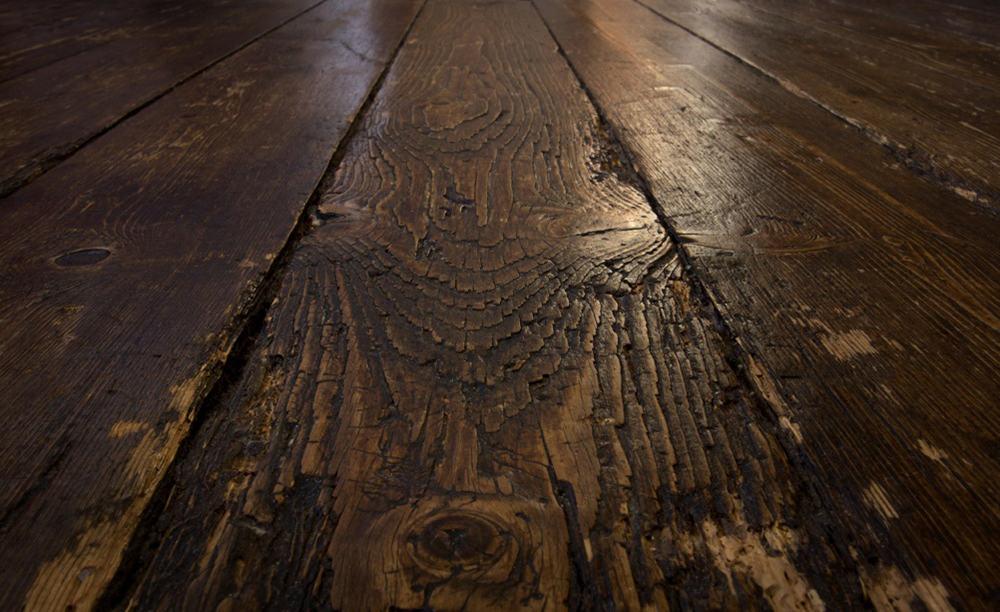 old wooden floor planks