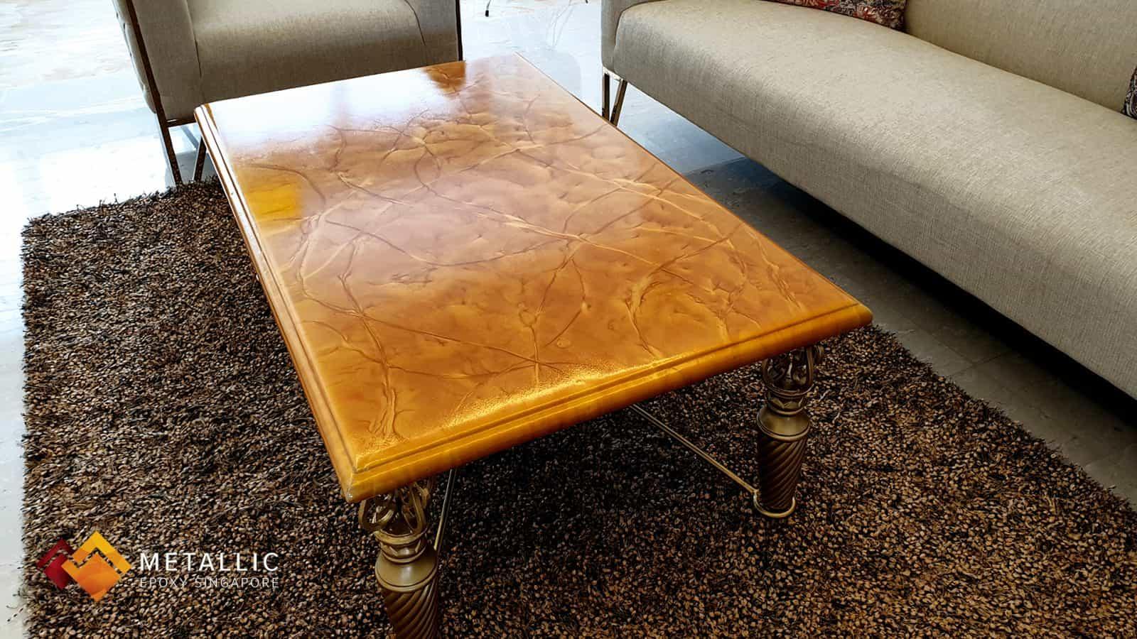 Orange Gold Mixed Tabletop