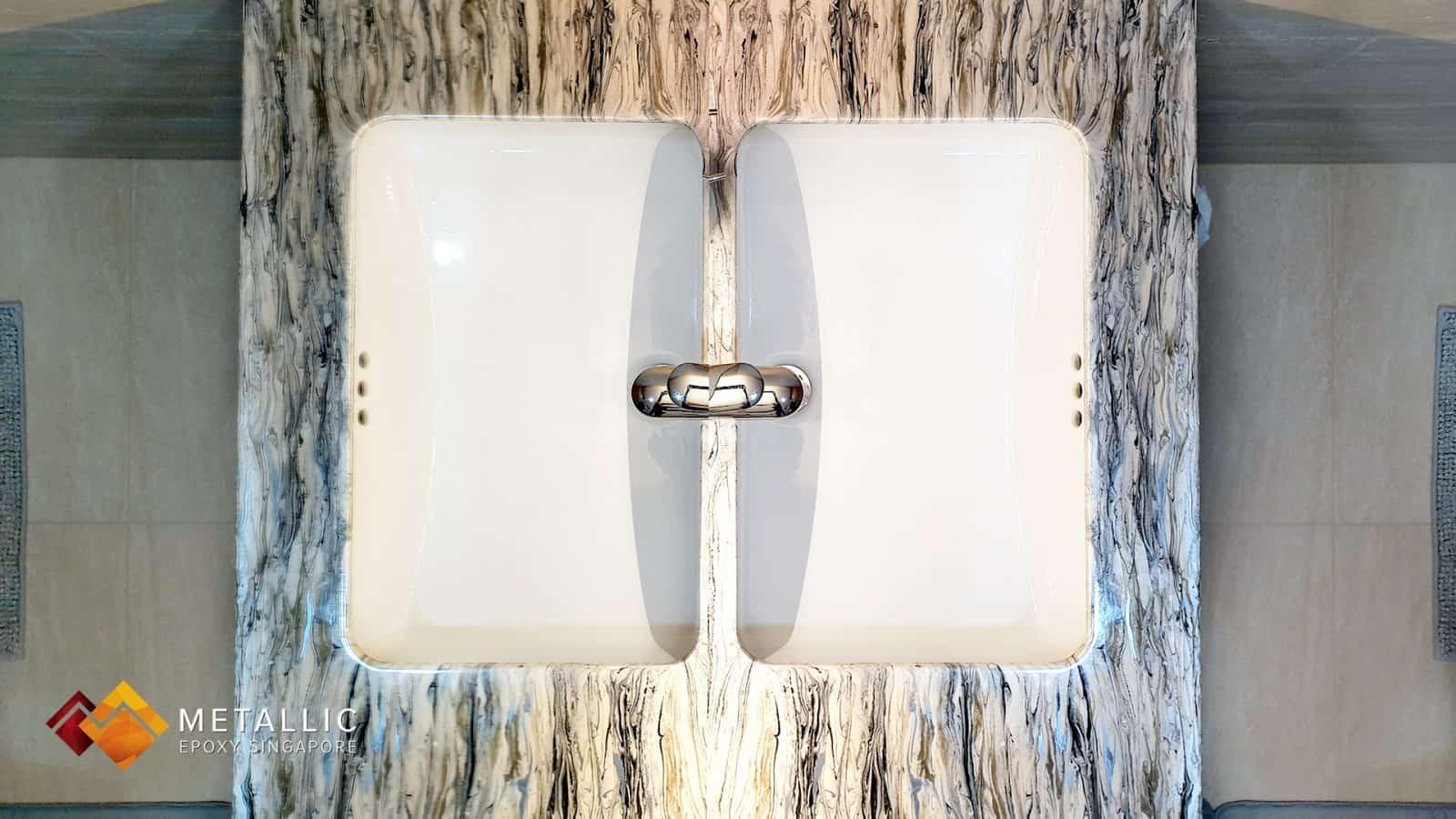 wood theme vanity top
