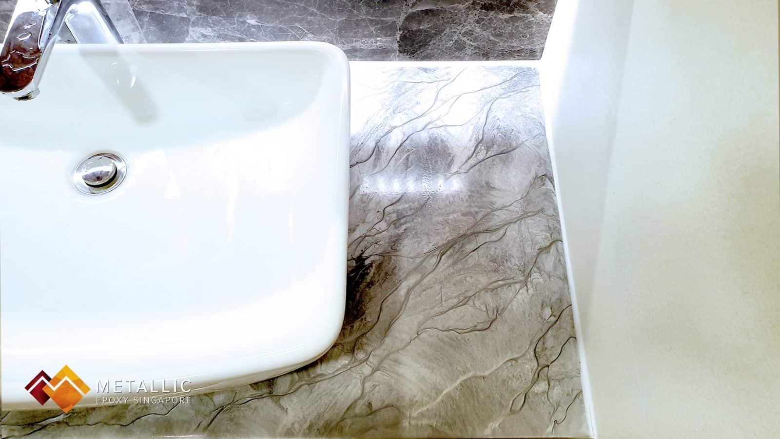 Grey Marble Bathroom Vanity Top