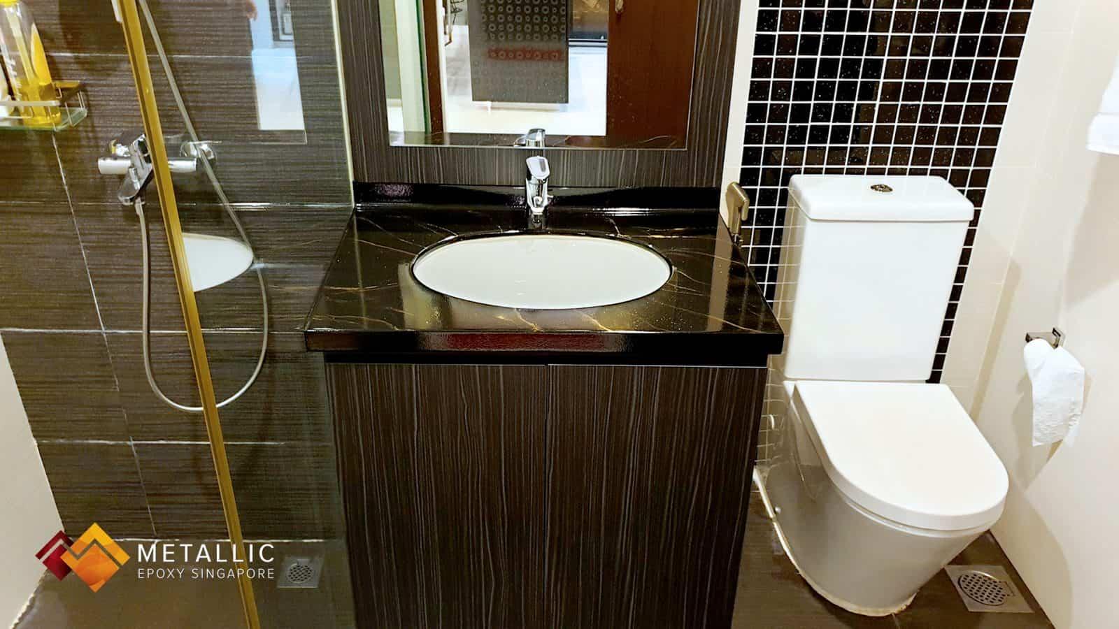 Black Marble Bathroom Vanity Top