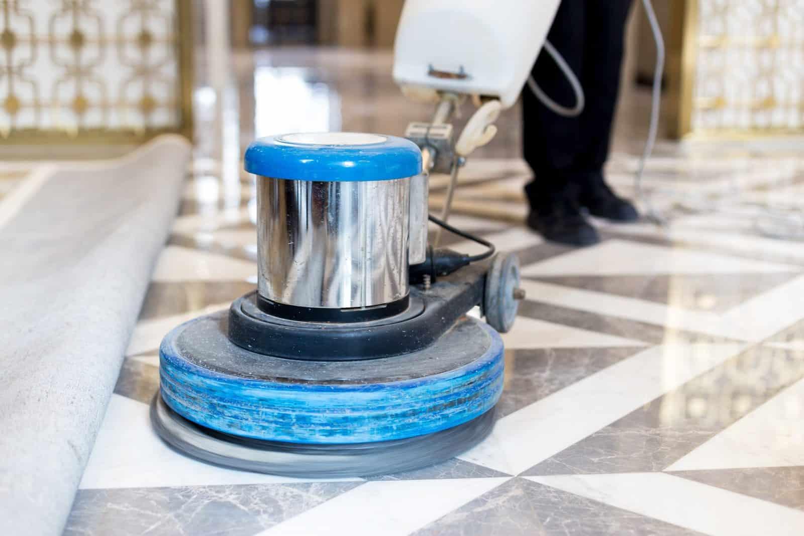 marble polishing floor
