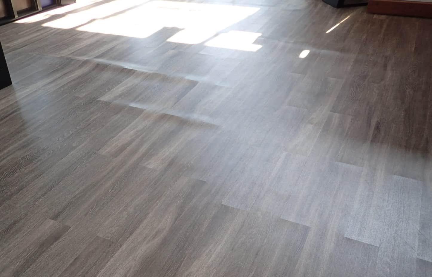 warping vinyl floor