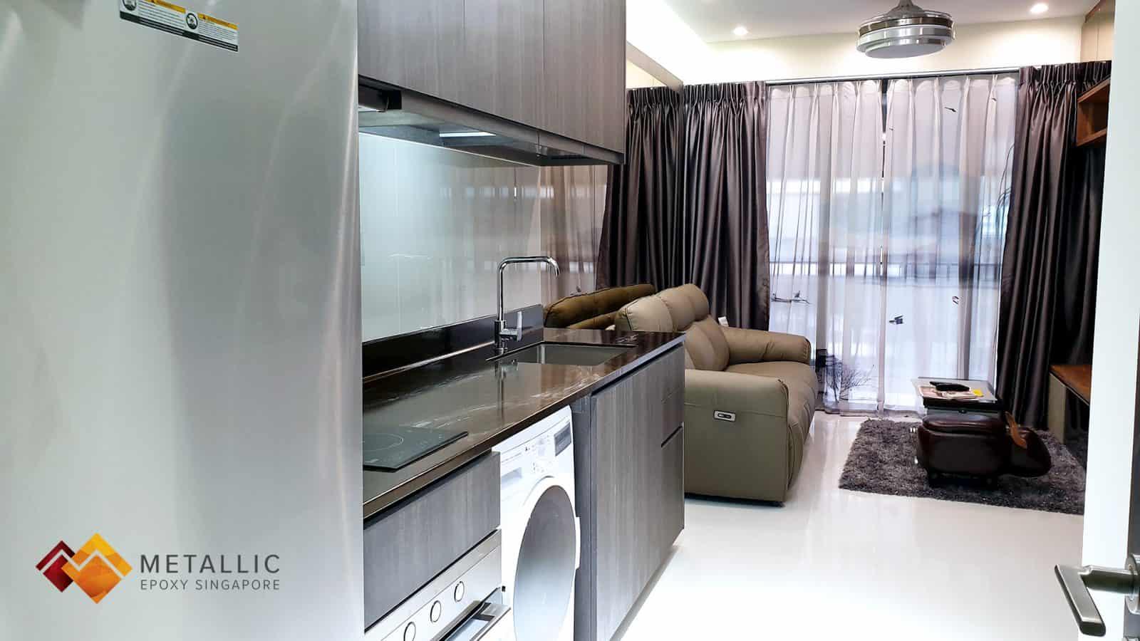 Metallic Epoxy Kitchen Countertop Wood Design