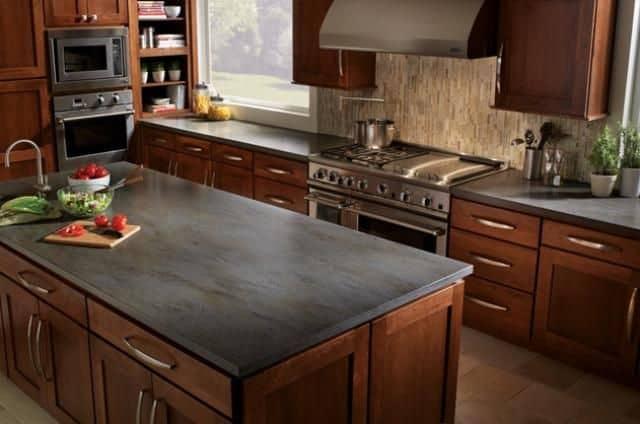 Slate kitchen countertop