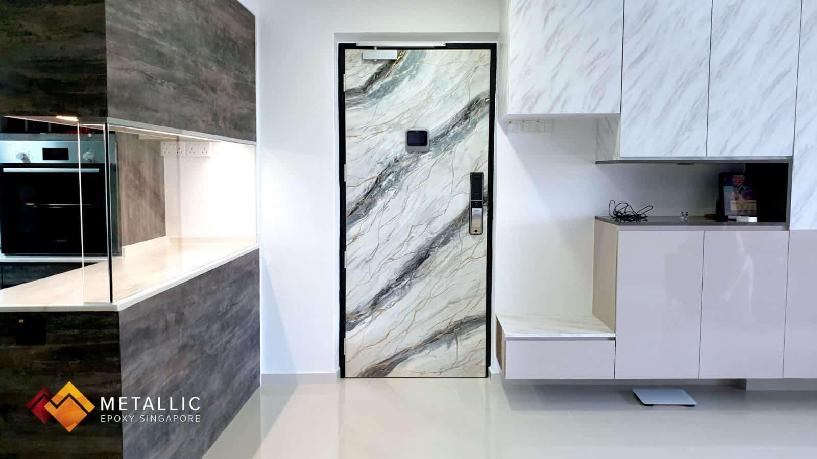 metallic epoxy singapore black silver gold main door