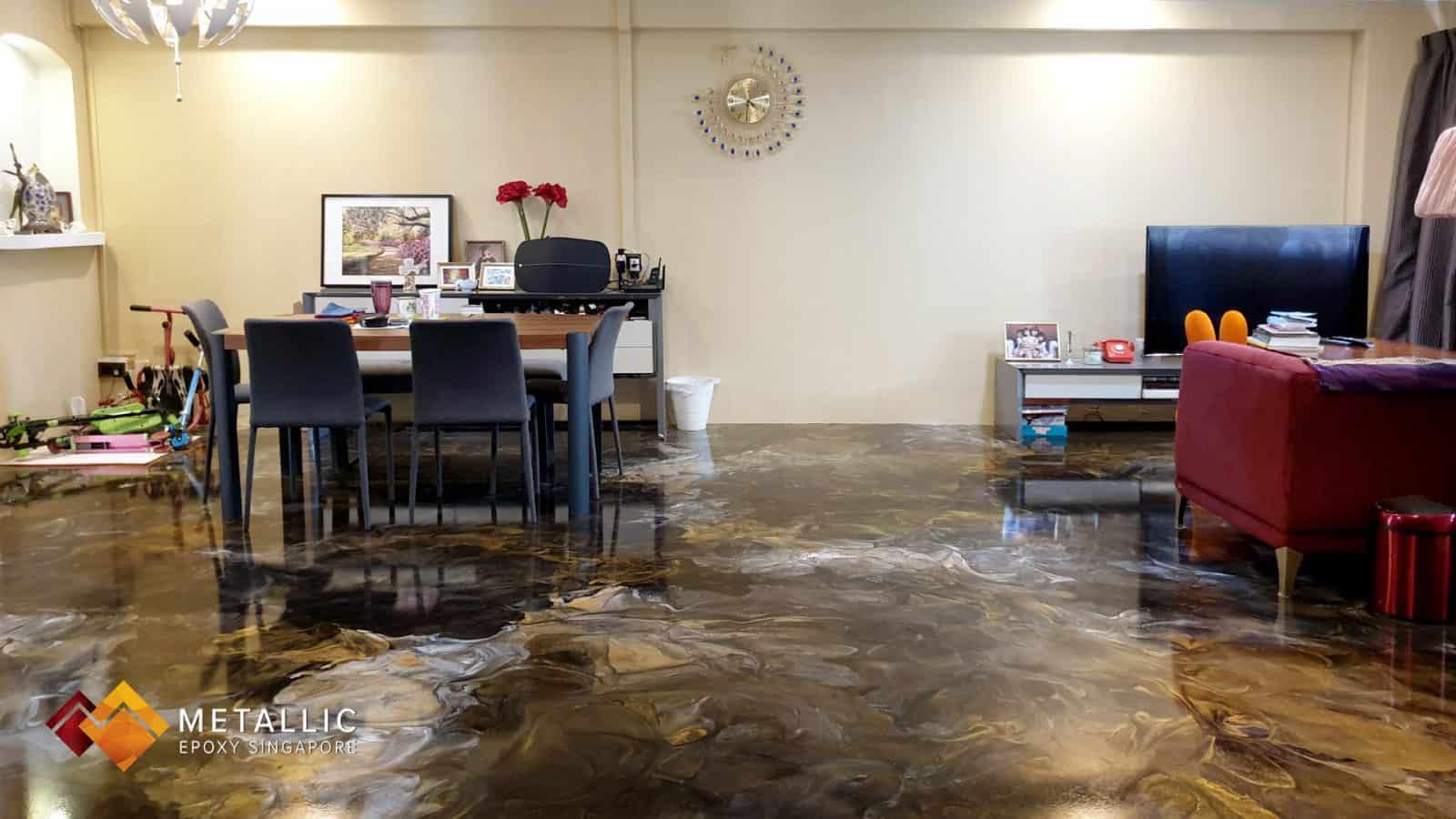 metallic epoxy living floor coating