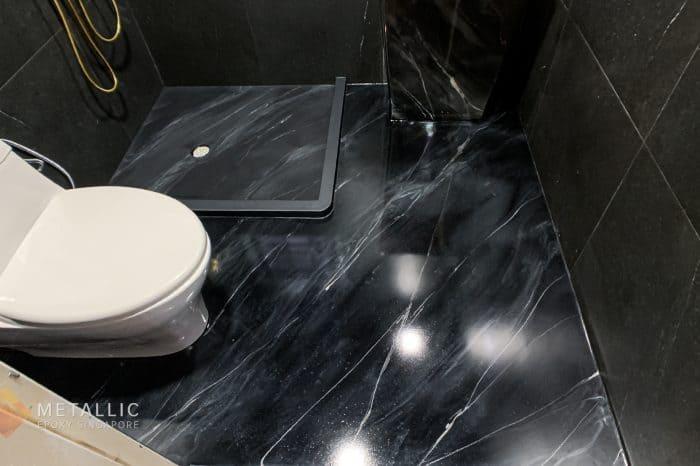 Black Marble Bathroom Flooring