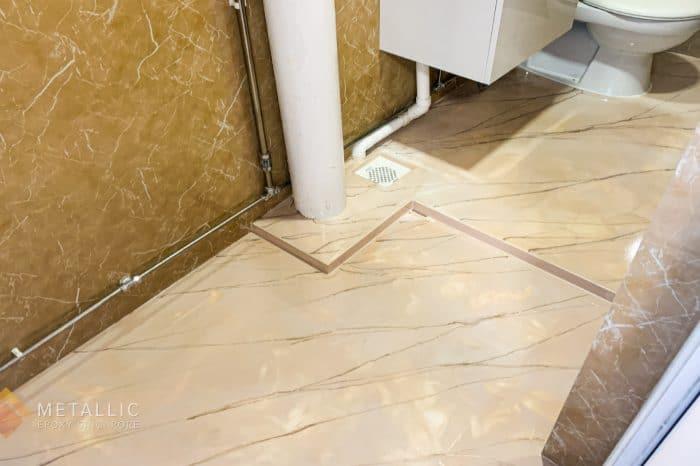 Camel Marble Bathroom Flooring
